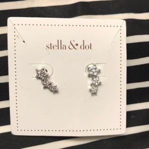 Star align climber earrings